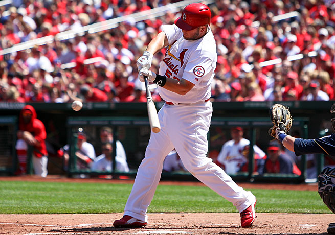 Matt Adams posted a .542 average and a 1.634 OPS in limited playing time in the early going this season.