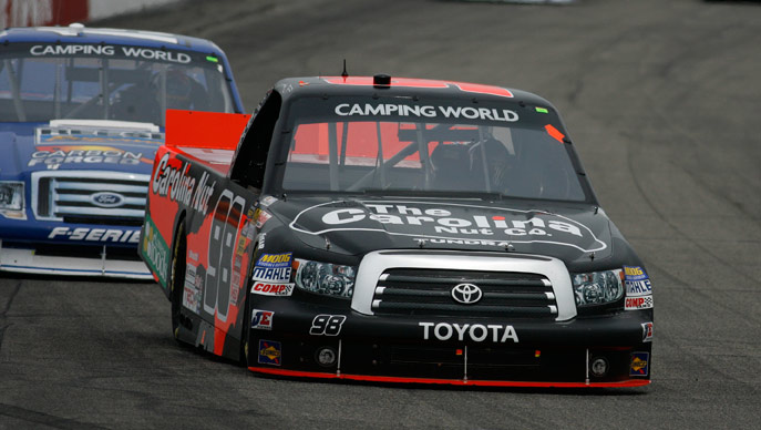 Johnny Sauter jhas finished fifth or better in all four Truck Series races this season.