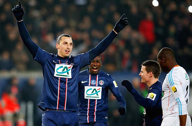 Zlatan Ibrahimovic and PSG lead Ligue 1 by nine points.