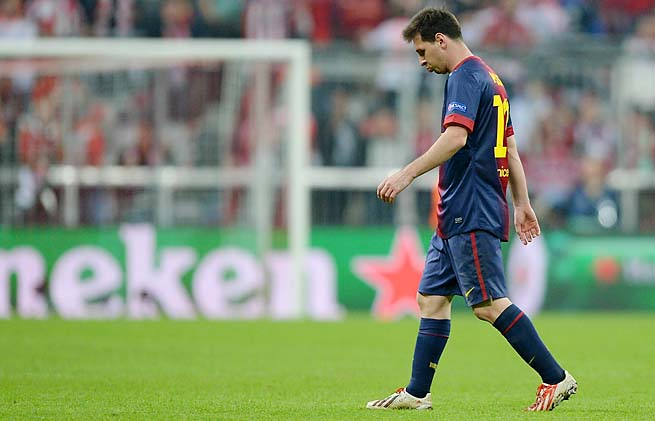 Lionel Messi and Barcelona face Bayern Munich in the return leg on Wednesday.