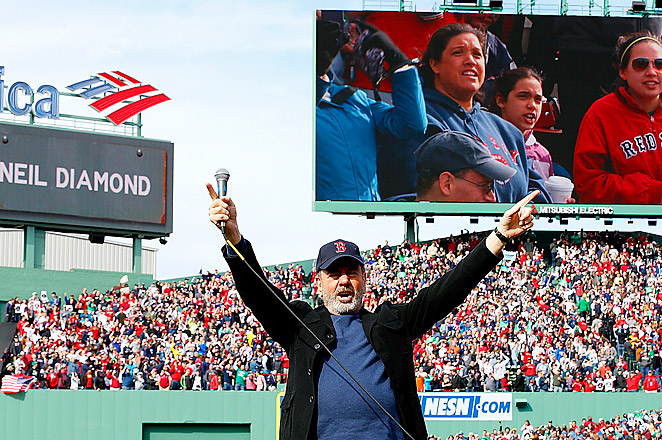 Neil Diamond sang 'Sweet Caroline' at the first home baseball game at Fenway since the Marathon attacks.