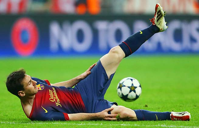Lionel Messi and Barcelona finish their Champions League semifinal Wednesday at home.