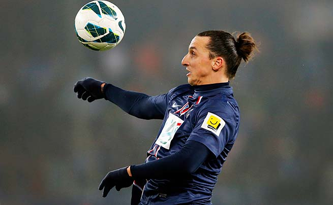 Zlatan Ibrahimovic leads Ligue 1 with 27 goals this season. Second place has 19.