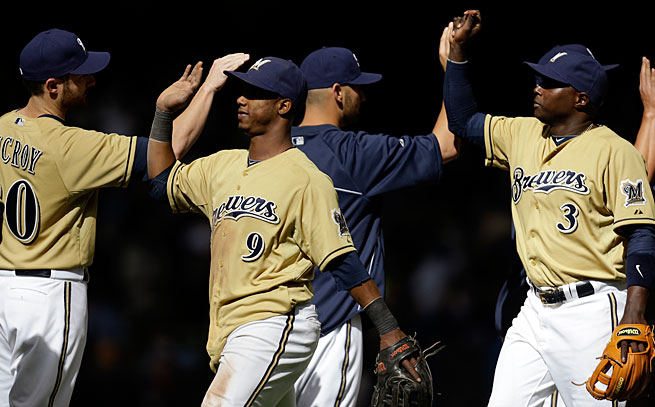 The Brewers had a nine-game winning streak but are still just in fourth place in a red-hot NL Central.