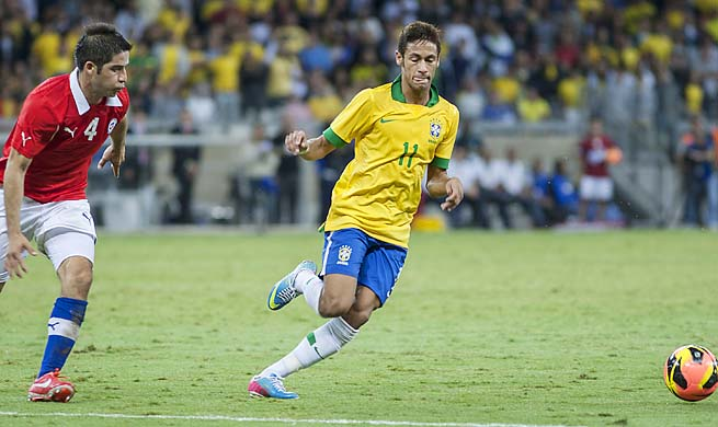 Neymar and Brazil are automatically qualified for the 2014 World Cup as hosts.