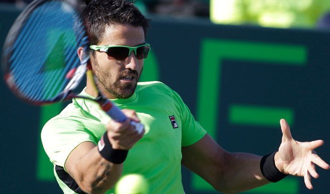 Janko Tipsarevic is through to the quarters in Budapest after beating Santiago Giraldo in straight sets.