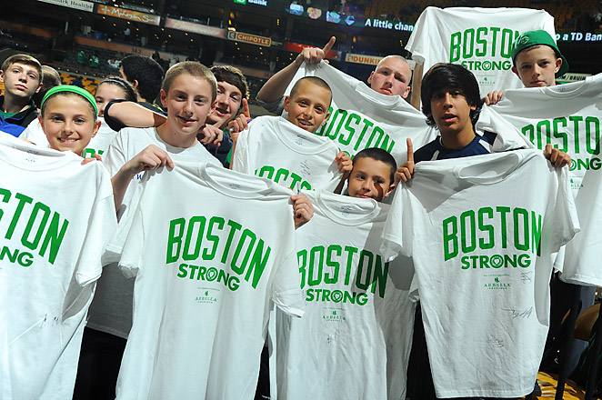 The Celtics haven't had a home game since the bombings at the Boston Marathon on April 15.