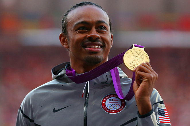 Aries Merritt won gold for the U.S. in the men's 110-meter hurdles during the 2012 London Games.