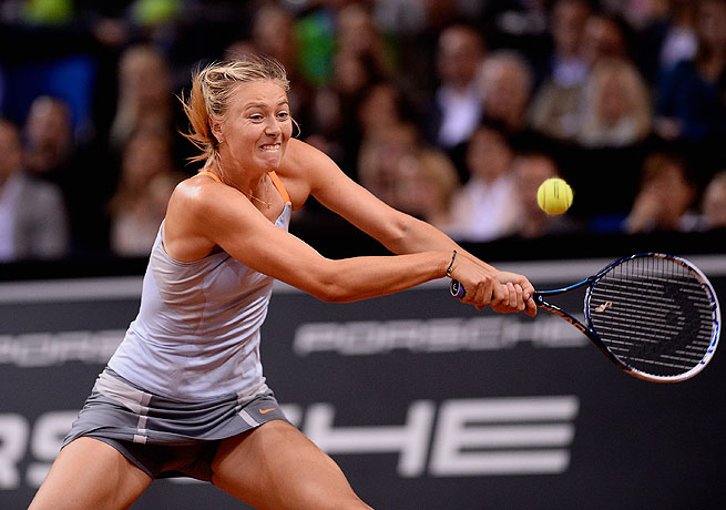 Maria Sharapova won the championship in Stuttgart last year and will look to defend it on Sunday.