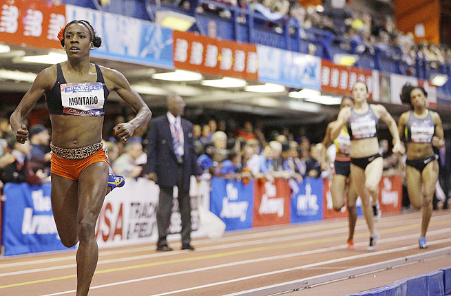 Alysia Montano's strong anchor leg helped her team set an American Record at the Millrose games.