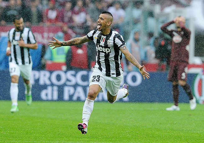 Arturo Vidal has scored a host of big goals for Juventus lately, including the opener against Torino.