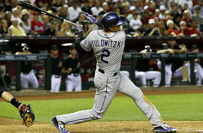 Troy Tulowitzski leads the Rockies with 22 RBIs, but left Sunday's game with a shoulder injury.