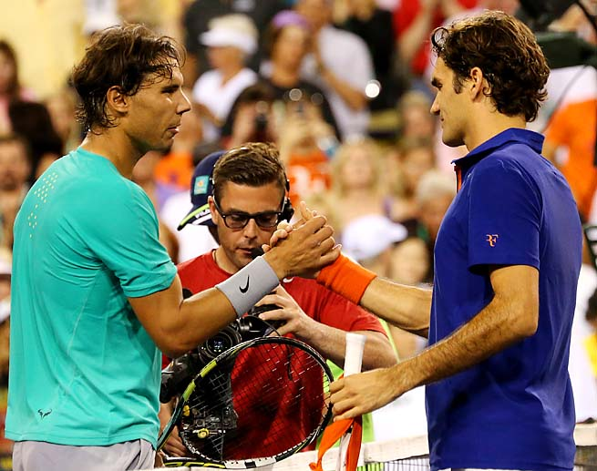 Rafael Nadal beat Roger Federer in their last meeting at Indian Wells.