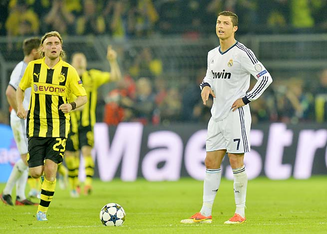 Cristiano Ronaldo scored Real Madrid's only goal in a 4-1 loss to Dortmund in the first leg.