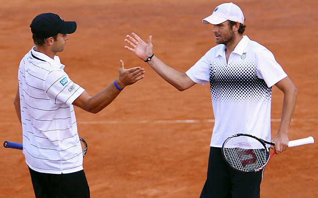 Andy Roddick (left) and Mardy Fish are among the former and current tennis players to express support for Jason Collins.