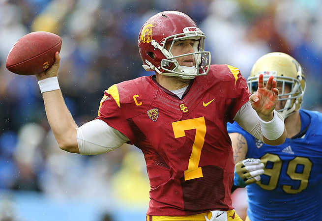 The arrival of Matt Barkley in Philadelphia puts a question mark over the Eagles' quarterback situation.
