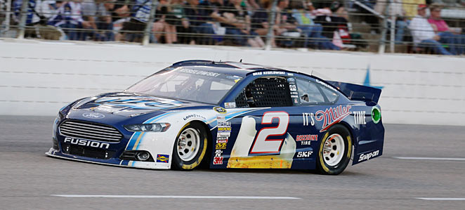 Brad Keselowski was docked 25 points when illegal rear suspension parts were found on his car.