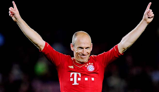 Arjen Robben scored in the 49th minute for Bayern in a 3-0 win over Barcelona.