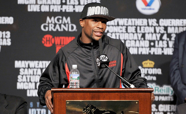 Floyd Mayweather will fight at the MGM Grand for the seventh consecutive time on May 4.