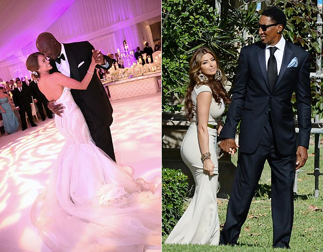 """Marriage is great institution,"" as the famous philosopher Marx once said, ""But who wants to live in an institution?"" Well, Michael Jordan and Yvette Prieto do, and fellow inmates Larsa and Scottie Pippen were on hand at their wedding reception at the Bear's Club in Jupiter, Fla."