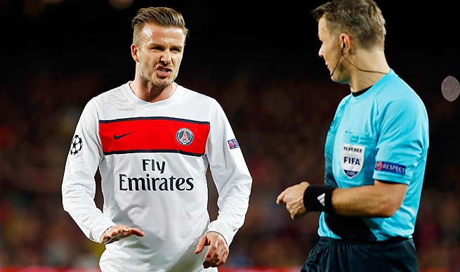 David Beckham and Paris Saint-Germain are closing in on the Ligue 1 title.