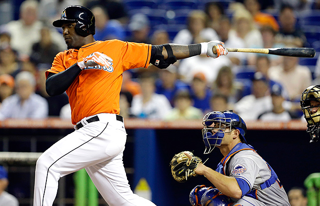 Marcell Ozuna was rushed up from Double-A Jacksonville to fill the void left by Giancarlo Stanton.