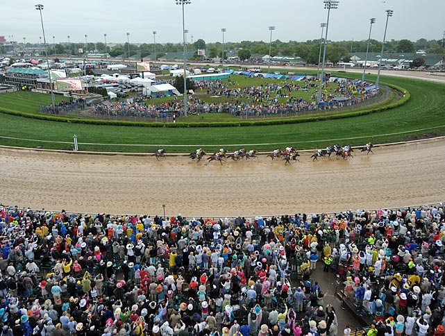 A crowd of 151,616 weathered the elements for this year's Derby.