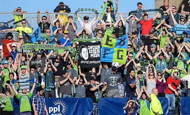 Sounders fans traveled well, bringing sizable support to to see Seattle tie the Union 2-2 in Philadelphia.