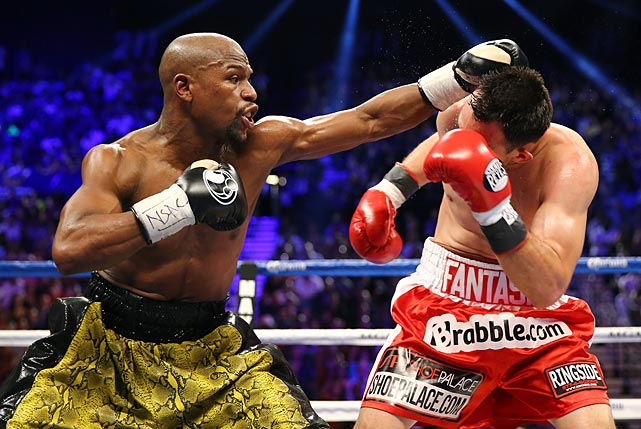 Before the fight there had been some concern about Mayweather having ring rust after going a year without a fight. But he didn't miss a beat.