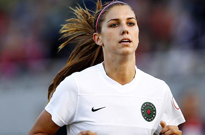 Alex Morgan plays for the Portland Thorns in the new National Women's Soccer League.