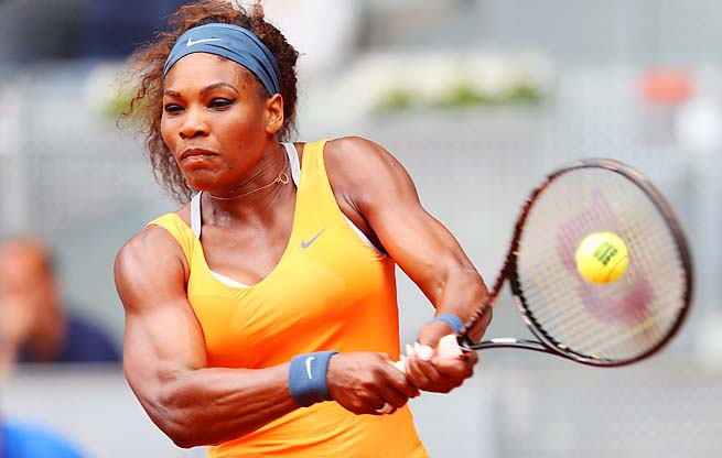 Serena Williams is prepping for the French Open, which she won in 2003.