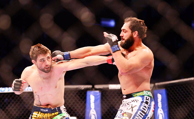 Johny Hendricks (right) has a distinctive beard, but does it actually protect him from punches?