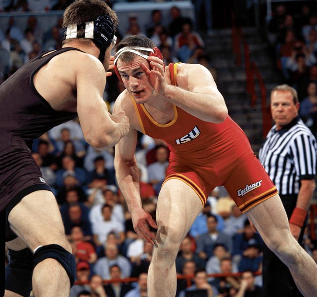 As a senior at Iowa State in 2002, only four of Sanderson's 40 matches lasted the full seven minutes. It was a dominant end to an unblemished career. Sanderson went 159-0 in college. He won four national titles -- the first three at 184 pounds, the last at 197 -- and was named outstanding wrestler at each of those NCAA championships. He added a gold medal at the 2004 Athens Olympics and now coaches Penn State's wrestling team.