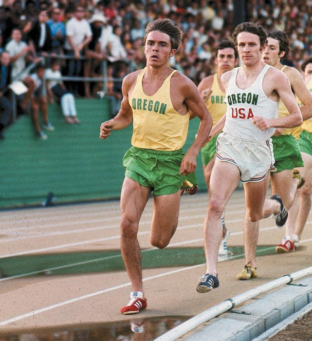 The Oregon legend ran from the front and challenged the competition to keep pace. The most famous American distance runner finished his college career with seven NCAA titles -- three in cross country, four in track. During his career, he also finished fourth in the 5,000 meters at the 1972 Olympics. When Pre died in a car accident at age 24, he held every American record between 2,000 and 10,000 meters.