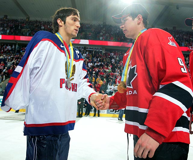 Crosby's debut for the Canadian Junior Team came at 16 in 2003. But it wasn't until 2005 that he tasted success for Team Canada, beating Alexander Ovechkin and Russia 6-1 in the gold medal game.