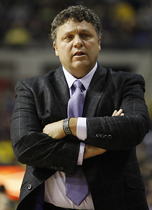 Mens' basketball coach Greg Kampe has led the Horizon League-headed Oakland University to NCAA berths three times since 2005.