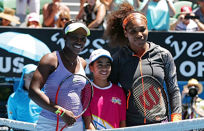 The 17th-ranked Sloane Stephens (left) is the No. 2 American, behind world No. 1 Serena Williams.