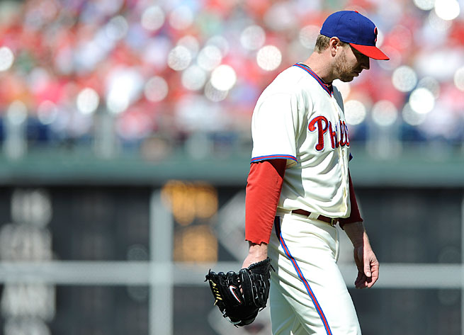 Roy Halladay has an 8.65 ERA after seven starts this season.