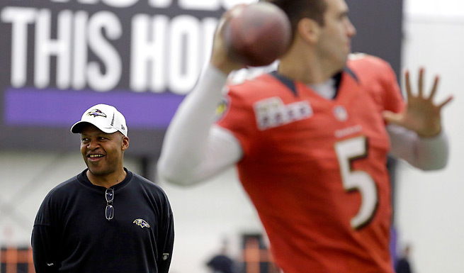 Jim Caldwell is widely credited with helping spark the Ravens' Super Bowl run, but it didn't pay immediate dividends in terms of getting another head coaching job.