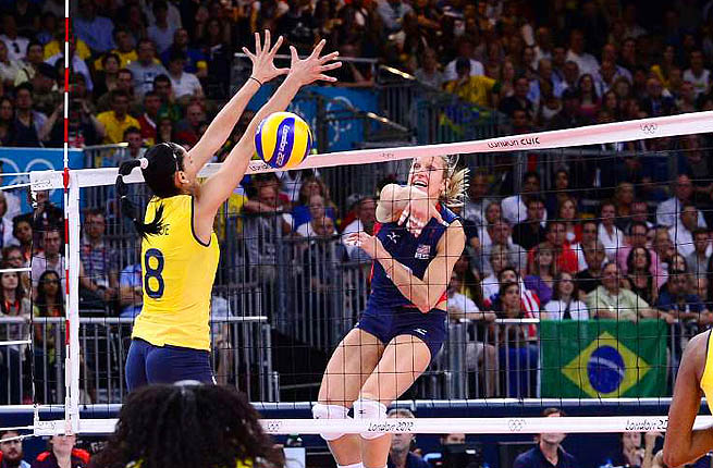 The U.S. Women's Olympic team finished with the silver medal in London, losing to Brazil.