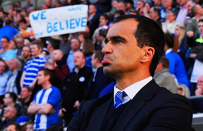 Roberto Martinez, a favorite for the Everton job, and Wigan play Manchester City in the FA Cup final.