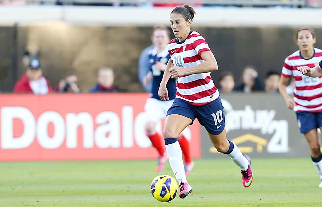 Carli Lloyd, 30, has been playing for the U.S. national team since 2005.
