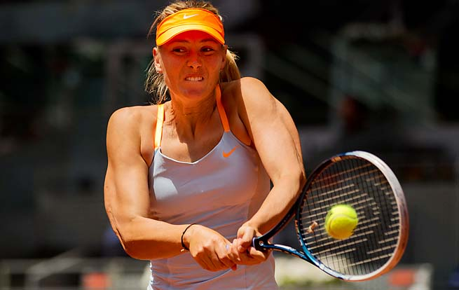 Maria Sharapova will play the Angelique Kerber-Ana Ivanovic winner in the semifinals.