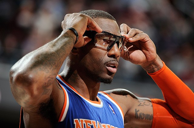 Stoudemire unveiled new, futuristic goggles for the 2012-13 season.