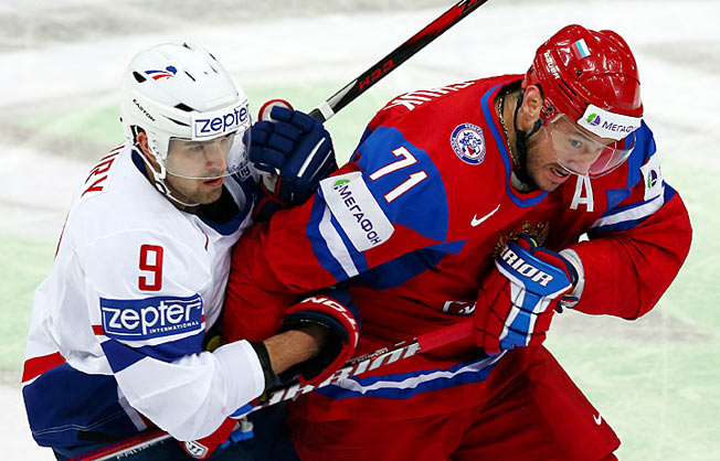 Ilya Kovalchuk and Team Russia suffered a colossal upset by France on Thursday.