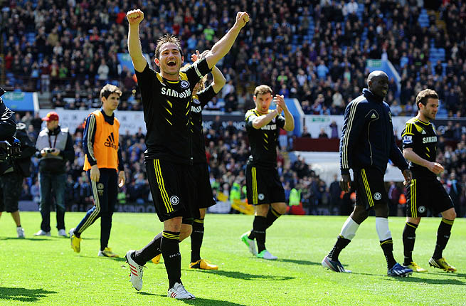 Frank Lampard of Chelsea after winning Barclays Premier League match between Aston Villa and Chelsea.