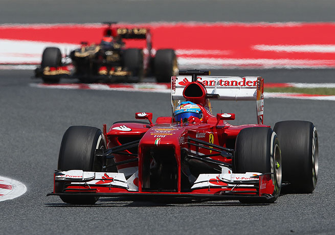 Fernando Alonso thrilled Spanish fans in winning his second Formula One race of the season.