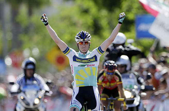 Westra claimed his 12th career win, completing the 102.6-mile Escondido road race in 4 hours.