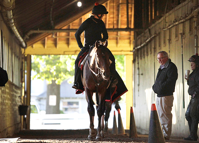 Trainer Shug McGaughey was pleased with Orb's final workout before the Preakness.