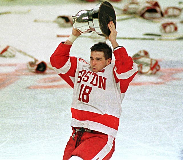Drury found the spotlight at age 12 when he led his baseball team to the Little League World Series title. As a freshman, he helped Boston University win the 1995 national title. He became a three-time Hockey East Defensive Player of the Year. He was All-America twice and, as a senior in 1998, won the Hobey Baker Award as national player of the year.